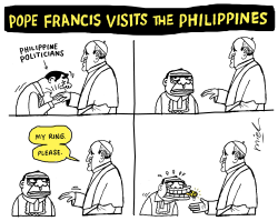 Pope Francis Visits The Philippines by Deng Coy Miel