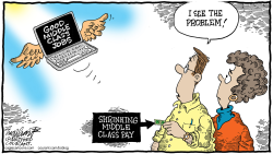 Shrinking Middle Class Income by Bob Englehart