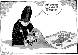 Pope Covers Up by Bob Englehart