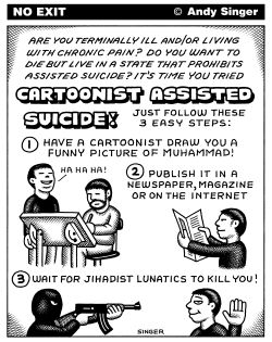Cartoonist Assisted Suicide by Andy Singer