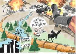 Exploding Oil Sector by Pat Bagley