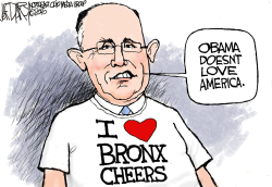 Rudy loves bashing Obama by Jeff Darcy