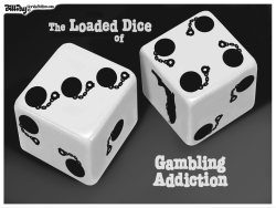 local FL  Ball and Chain Dice   by Bill Day