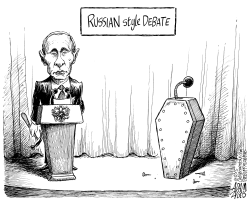 Putin's Critics by Adam Zyglis