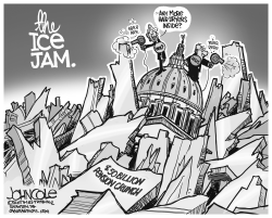 LOCAL PA -- The pension ice jam BW by John Cole