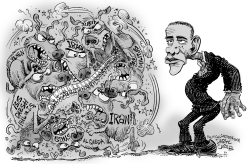 Spineless Obama and the Middle East by Daryl Cagle