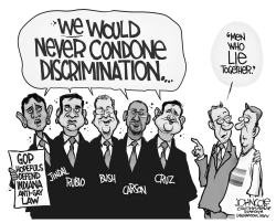 GOP and RFRA BW by John Cole