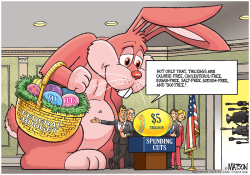 Imaginary Federal Budget Bunny  by RJ Matson