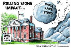 Rolling Stone and UVA frat house by Dave Granlund