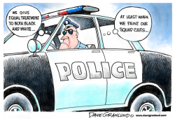 Police black and white by Dave Granlund