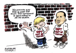 Opting out of standardized tests color by Jimmy Margulies