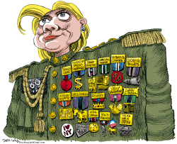 Hillary the Commander in Chief  by Daryl Cagle