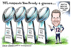 Tom Brady suspended 4 games by Dave Granlund