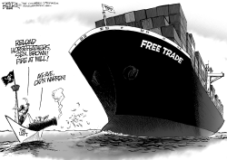 Trans-Pacific Pirates by Nate Beeler