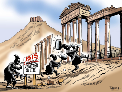 ISIS heritage sites by Paresh Nath