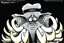 The GOP field by Milt Priggee