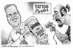Jeb Bush 2016 tattoo by Dave Granlund