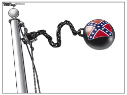 CONFEDERATE FLAG  color by Bill Day