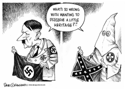 Confederate flag and heritage by Dave Granlund
