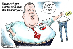 Skinny jeans and Christie by Dave Granlund