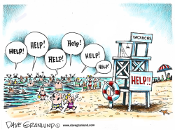 Lifeguard shortage by Dave Granlund