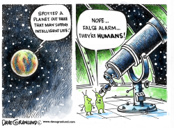 Search for intelligent life by Dave Granlund