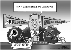 Redskins Owner Dan Snyder Considers Confederate Battle Flag Logo by RJ Matson