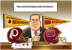 Redskins Owner Dan Snyder Considers Confederate Battle Flag Logo- by RJ Matson