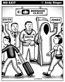 Death Awaits Passenger by Andy Singer