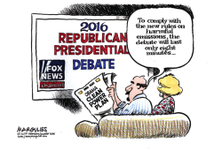 Republican debate color by Jimmy Margulies