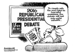 Republican presidential debate by Jimmy Margulies