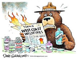 West Coast Fires by Dave Granlund