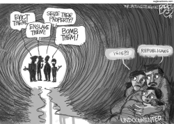 GOP Immigrant Solution  by Pat Bagley