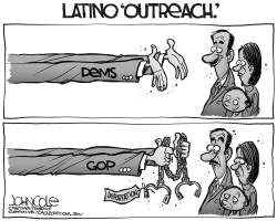 Latino outreach BW by John Cole