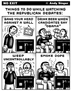 Republican Debate Activities by Andy Singer