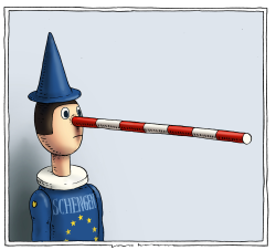 open border pinocchio by Joep Bertrams