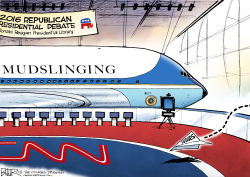 GOP Debate Planes  by Nate Beeler