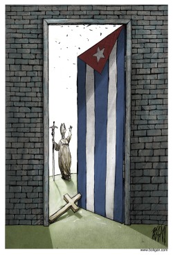 Cuba open itself to the World by Angel Boligan