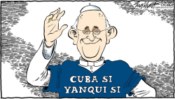 Pope Francis In America by Bob Englehart