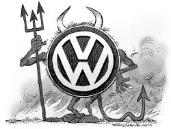 Volkswagen Devil by Daryl Cagle