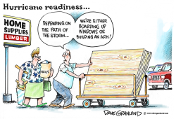 Hurricane readiness by Dave Granlund