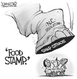 LOCAL NC -- Food stamp cuts BW by John Cole