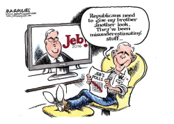 Jeb Bush and George W color by Jimmy Margulies