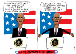 Commentator in chief by Schot