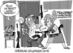 Trick or treat by David Fitzsimmons