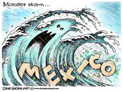 Mexico hurricane by Dave Granlund