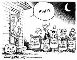 Halloween tricky treats by Dave Granlund