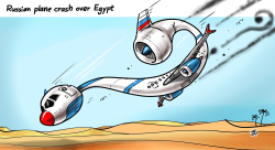 Russian Plane crash by Emad Hajjaj