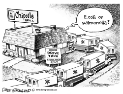 Chipotle contamination by Dave Granlund