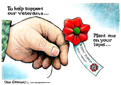 Veterans and Poppies by Dave Granlund